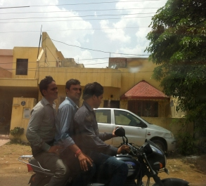 Three on a bike!
