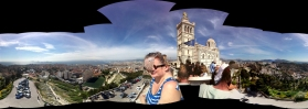 Panorama attempt of Notre-Dame de la Garde and surrounding view