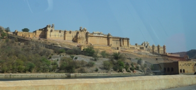 Amer Fort from our cab