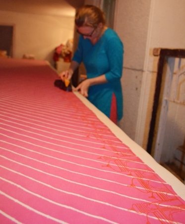Printing the border.