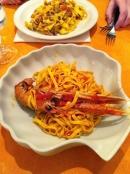 Delicious baby lobster pasta