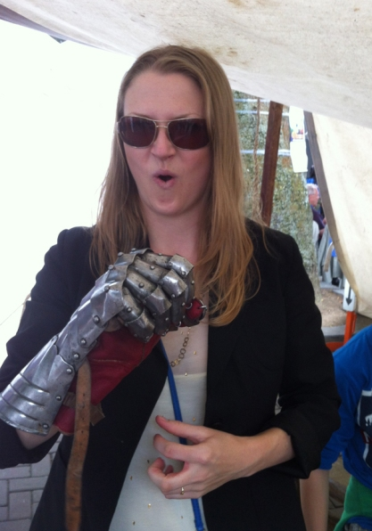 Leanne feeling the power!
