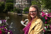 Leanne on the bridge