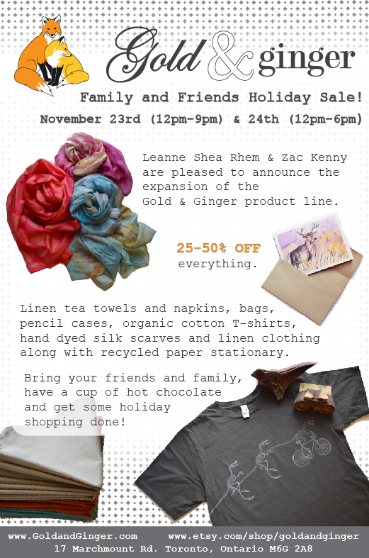 Holiday sale invite