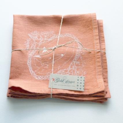 fox napkin orange packaged