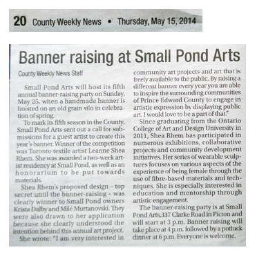 County Weekly News banner raising thursday may 15 copy
