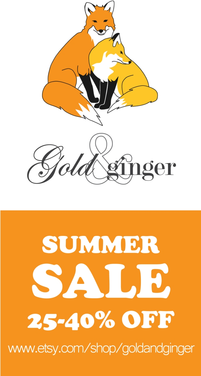 Gold and Ginger Etsy Summer Sale