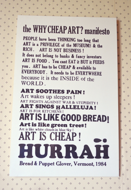 Small Pond Arts Kitchen Manifesto Poster