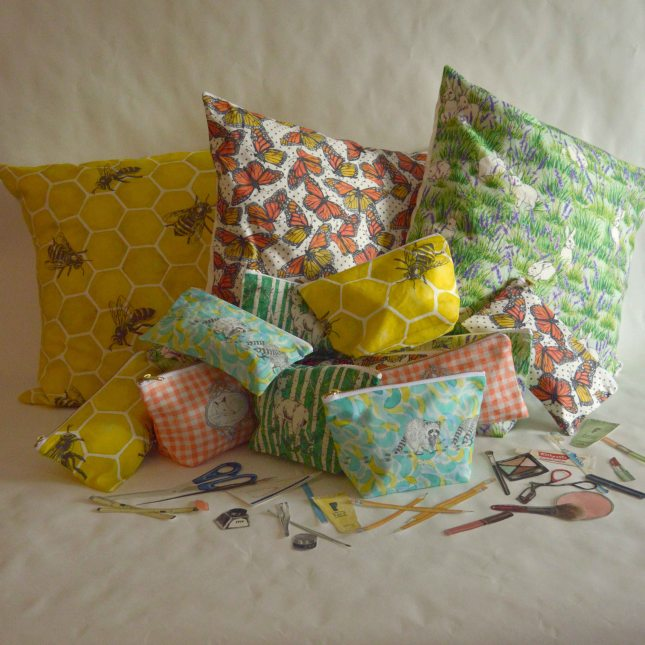 Gold and Ginger Throw Pillows, Make Up Bags, Pencil Cases